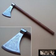 Celtic Knot Pattern Dragon's Head Axe